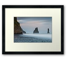 Don't try to steer the river Framed Print