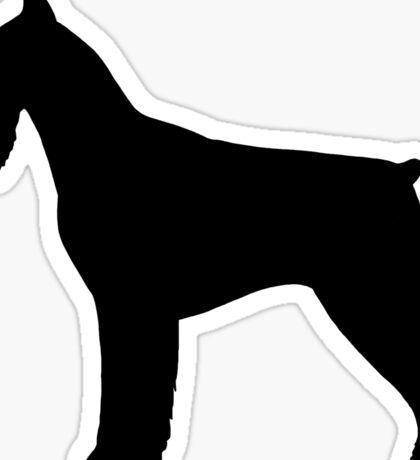 Giant Schnauzer Silhouette(s) Sticker