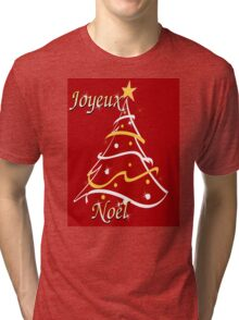 JOYEUX NOEL from KRICKET KOUNTRY! Tri-blend T-Shirt