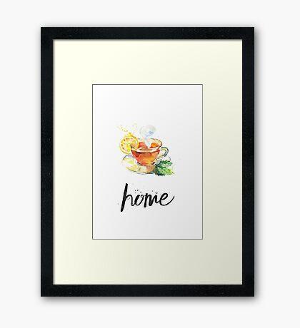 Tea cozy home Framed Print