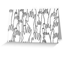 hands hands hands Greeting Card