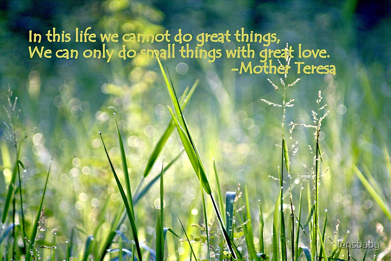 doing small things with great love by lensbaby