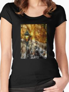LampPost in Narnia Women's Fitted Scoop T-Shirt