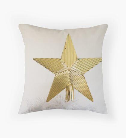 Gold Star Topper Throw Pillow
