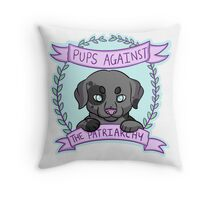 Pups against Patriarchy Throw Pillow