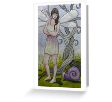 A Snail Will Tell Greeting Card