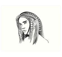 Girl With Tangled Hair Art Print