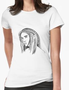 Girl With Tangled Hair Womens Fitted T-Shirt