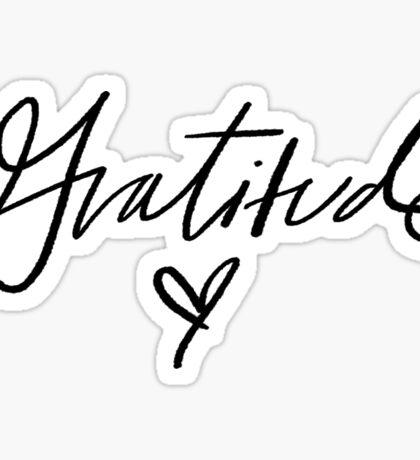 Gratitude ♥   Trendy/Hipster/Tumblr Meme Sticker