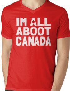 I'm All Aboot Canada Mens V-Neck T-Shirt