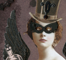 Winged Vampire Masquerade Sticker