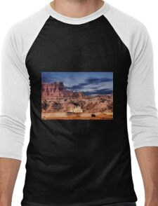 Sunrise over Badlands National Park .5 Men's Baseball ¾ T-Shirt