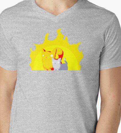 Captain and Lux Sunshine Mens V-Neck T-Shirt