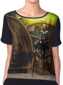 Lilith Wanders the Halls at Night Chiffon Top