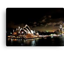Opera House At Night Canvas Print