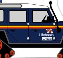 A Graphical Interpretation of the Land Rover Defender 110 Station Wagon Lifeboat Sticker