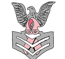 PO1 Insignia with Cancer Awareness Ribbon by Mokonu