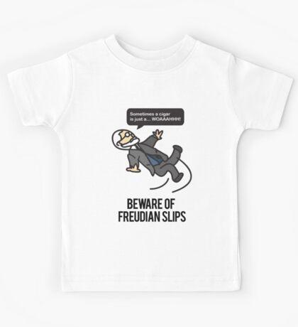 Beware of Freudian Slips Kids Tee