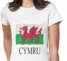 Welsh flag Womens Fitted T-Shirt
