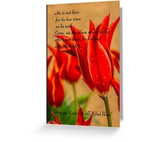 Bible Verse Matthew 28:6 Greeting Card