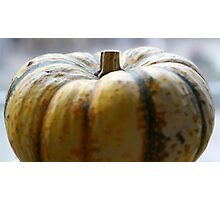 Soft Focus Close-Up of a Small Light-Yellow Pumpkin Photographic Print