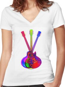 The Art of Rock 'n' Roll Women's Fitted V-Neck T-Shirt