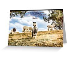 Bible Verse Genesis 1:24 Greeting Card