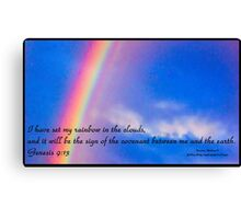 Bible Verse Genesis 9:13 Canvas Print