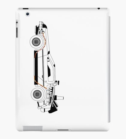 Delorean DMC Back to the Future vertical iPad Case/Skin