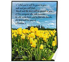 Bible Verse Matthew 7:7-8 Poster
