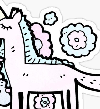 cartoon unicorn Sticker