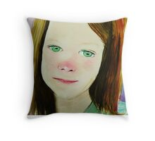 I think i know what she is feeling Throw Pillow