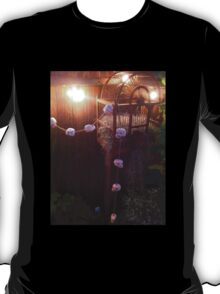 Halloween Skull Garland on a Birdcage T-Shirt