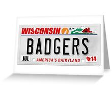 License Plate - BADGERS Greeting Card