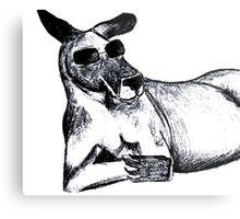 Cool Kangaroo Metal Print