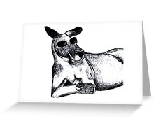 Cool Kangaroo Greeting Card