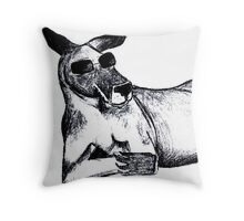 Cool Kangaroo Throw Pillow