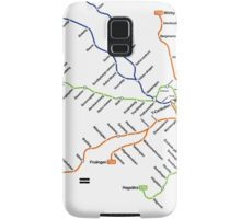 Geographically accurate subway map of Stockholm Samsung Galaxy Case/Skin