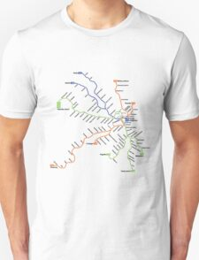 Geographically accurate subway map of Stockholm T-Shirt