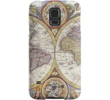 Antique Map of the World & Heavens Samsung Galaxy Case/Skin