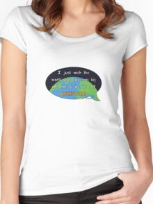 David Attenborough Quote Women's Fitted Scoop T-Shirt