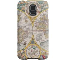 Antique Map of the World & Heavens2 Samsung Galaxy Case/Skin