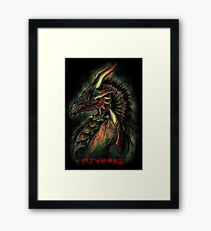 Dragonborn (Green Version) Framed Print