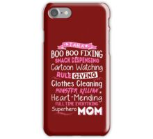superhero mom iPhone Case/Skin