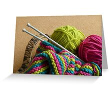 Knitting Greeting Card