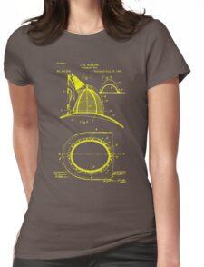 firefighter fireman patent art  Womens Fitted T-Shirt