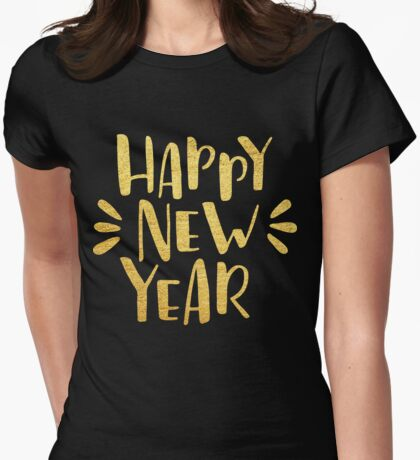 Cute Happy New Year 2017 Womens Fitted T-Shirt
