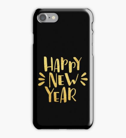 Cute Happy New Year 2017 iPhone Case/Skin