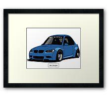 BMW E92 (Liberty Walk) Framed Print