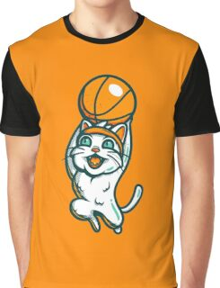 Dunk Cat Graphic T-Shirt